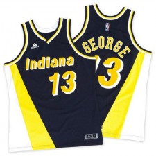 NBA Paul George Swingman Throwback Men's Navy/Gold Jersey - Adidas Indiana Pacers &13