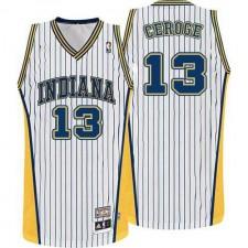 NBA Paul George Swingman Throwback Men's White Jersey - Adidas Indiana Pacers &13