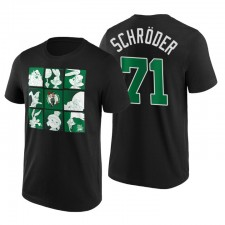 Boston Celtics Space Space Tune T-shirt Squad Dennis Schroder ^ 71 Noir