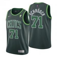 Boston Celtics gagné édition Dennis Schroder No. 71 Green Swingman Maillot