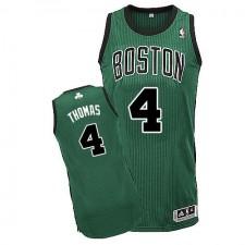 NBA Isaiah Thomas Authentic Men's Green Jersey - Adidas Boston Celtics &4 Alternate