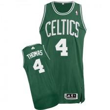 NBA Isaiah Thomas Authentic Men's Green Jersey - Adidas Boston Celtics &4 Road
