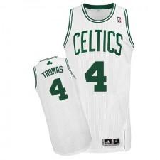 NBA Isaiah Thomas Authentic Men's White Jersey - Adidas Boston Celtics &4 Home
