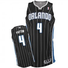 NBA Elfrid Payton Authentic Men's Black Jersey - Adidas Orlando Magic &4 Alternate