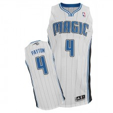 NBA Elfrid Payton Authentic Men's White Jersey - Adidas Orlando Magic &4 Home