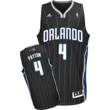 NBA Elfrid Payton Swingman Men's Black Jersey - Adidas Orlando Magic &4 Alternate