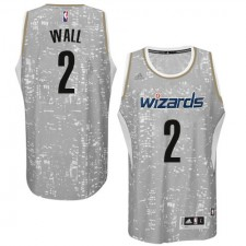 NBA John Wall Swingman Men's Grey Jersey - Adidas Washington Wizards &2 City Light