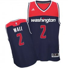 NBA John Wall Authentic Men's Navy Blue Jersey - Adidas Washington Wizards &2 Alternate
