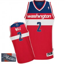 NBA John Wall Authentic Men's Red Jersey - Adidas Washington Wizards &2 Road Autographed