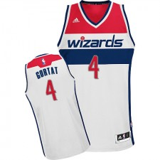 NBA Marcin Gortat Swingman Men's White Jersey - Adidas Washington Wizards &4 Home