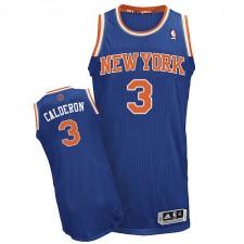 NBA Jose Calderon Authentic Men's Royal Blue Jersey - Adidas New York Knicks &3 Road