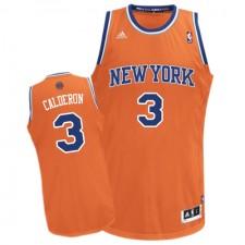 NBA Jose Calderon Swingman Men's Orange Jersey - Adidas New York Knicks &3 Alternate