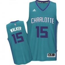 NBA Kemba Walker Authentic Men's Teal Jersey - Adidas Charlotte Hornets &15 Road