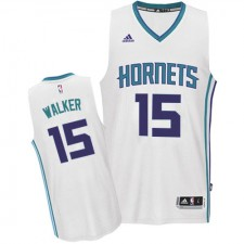 NBA Kemba Walker Authentic Men's White Jersey - Adidas Charlotte Hornets &15 Home