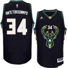 NBA Giannis Antetokounmpo Swingman Men's Black Jersey - Adidas Milwaukee Bucks &34 Alternate