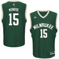 NBA Greg Monroe Swingman Men's Green Jersey - Adidas Milwaukee Bucks &15 Road