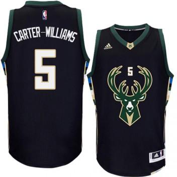 NBA Michael Carter-Williams Authentique Hommes Noir Maillot - Adidas Magasin Milwaukee Bucks #5 Rechange