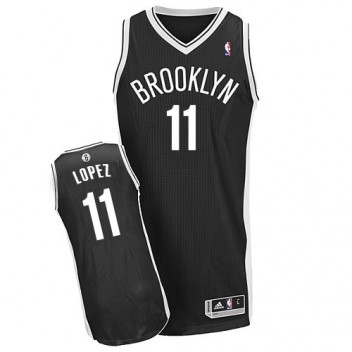 NBA Brook Lopez Authentique Hommes Noir Maillot - Adidas Magasin Brooklyn Nets #11 Road