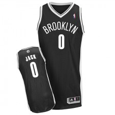 NBA Jarrett Jack Authentic Men's Black Jersey - Adidas Brooklyn Nets &0 Road