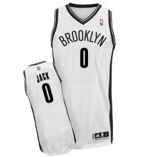 NBA Jarrett Jack Authentic Men's White Jersey - Adidas Brooklyn Nets &0 Home