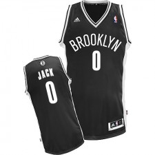 NBA Jarrett Jack Swingman Men's Black Jersey - Adidas Brooklyn Nets &0 Road