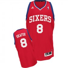 NBA Jahlil Okafor Swingman Men's Red Jersey - Adidas Philadelphia 76ers &8 Road