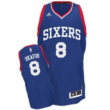 NBA Jahlil Okafor Swingman Men's Royal Blue Jersey - Adidas Philadelphia 76ers &8 Alternate