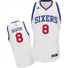 NBA Jahlil Okafor Swingman Men's White Jersey - Adidas Philadelphia 76ers &8 Home