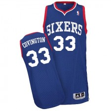 NBA Robert Covington Authentic Men's Royal Blue Jersey - Adidas Philadelphia 76ers &33 Alternate