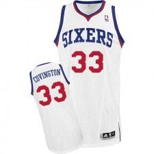 NBA Robert Covington Authentic Men's White Jersey - Adidas Philadelphia 76ers &33 Home