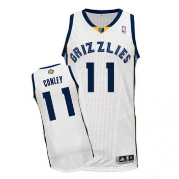 NBA Mike Conley Authentique Hommes Blanc Maillot - Adidas Magasin Memphis Grizzlies #11 Home