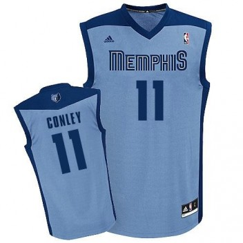 NBA Mike Conley Swingman Hommes Light Bleu Maillot - Adidas Magasin Memphis Grizzlies #11 Rechange