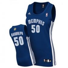 NBA Zach Randolph Authentic Women's Navy Blue Jersey - Adidas Memphis Grizzlies &50 Road
