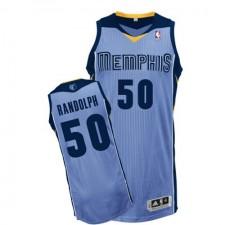NBA Zach Randolph Authentic Men's Light Blue Jersey - Adidas Memphis Grizzlies &50 Alternate