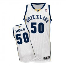 NBA Zach Randolph Authentic Men's White Jersey - Adidas Memphis Grizzlies &50 Home