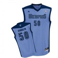 NBA Zach Randolph Authentic Women's Light Blue Jersey - Adidas Memphis Grizzlies &50 Alternate