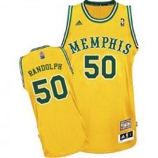 NBA Zach Randolph Swingman Men's Gold Jersey - Adidas Memphis Grizzlies &50 ABA Hardwood Classic