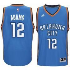 Oklahoma City Thunder &12 Steven Adams 2014-15 New Swingman Road Blue Jersey