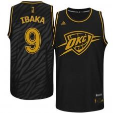 Oklahoma City Thunder &9 Serge Ibaka Precious Metals Fashion Swingman Black Jersey