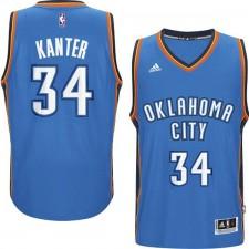 Oklahoma City Thunder &34 Enes Kanter 2014-15 New Swingman Road Blue Jersey