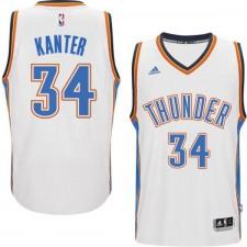 Oklahoma City Thunder &34 Enes Kanter 2014-15 New Swingman Home White Jersey