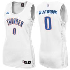 Womens Oklahoma City Thunder &35 Russell Westbrook White New Swingman Fashion Jersey