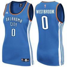 Womens Oklahoma City Thunder &35 Russell Westbrook Blue New Swingman Fashion Jersey