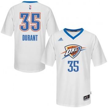 Oklahoma City Thunder #35 Kevin Durant 2014-15 Pride Swingman Blanc Maillot