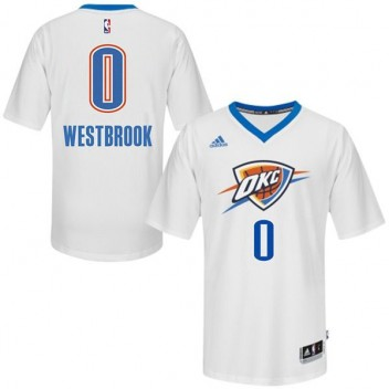 Oklahoma City Thunder #0 Russell Westbrook 2014-15 Pride Swingman Blanc Maillot