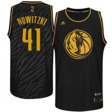 NBA Dirk Nowitzki Authentic Men's Black Jersey - Adidas Dallas Mavericks &41 Precious Metals Fashion