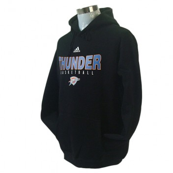 Oklahoma City Thunder principal Logo synthétique Noir Pullover Hoodie