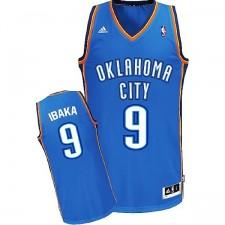 Oklahoma City Thunder &9 Serge Ibaka Revolution 30 Swingman Road Blue Jersey