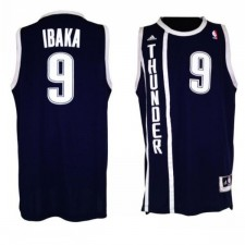 Oklahoma City Thunder &9 Serge Ibaka Revolution 30 Swingman Alternate Jersey
