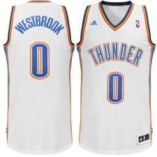 Russell Westbrook Oklahoma City Thunder &0 Revolution 30 Swingman Home White Jersey
